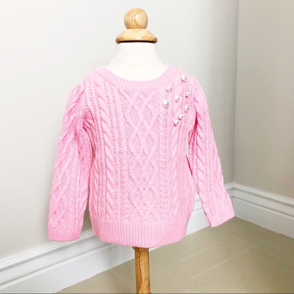 3a03f7ced1075a Janie and Jack Shirts & Tops | Janie Jack Baby Girls Knit Pink Pearl ...
